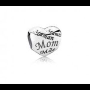 Jewelry - Pandora Mom Heart Charm,791112, In eight languages